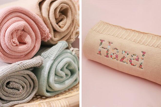 Milkmaid Mumma Personalised Baby Blankets