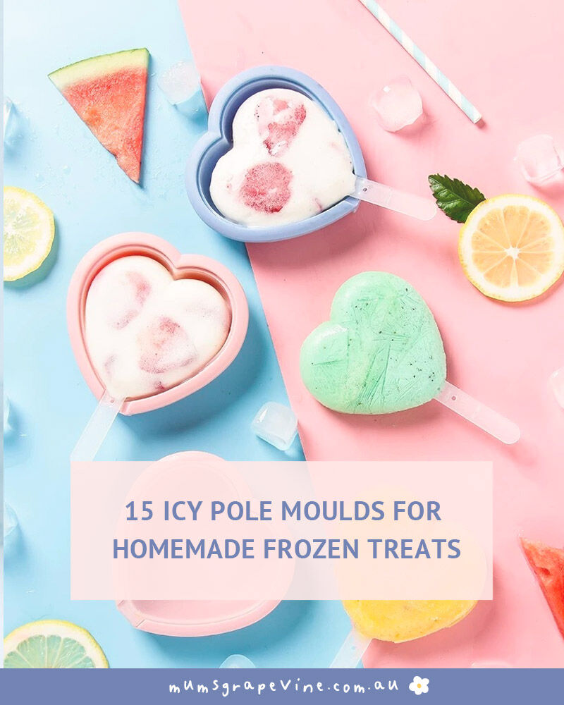 15 icy pole moulds for frozen treats